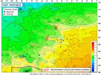 Карты температуры повехности океана