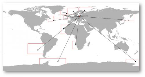 Промысловые районы, по которым ведется мониторинг и информационное обеспечение промысла